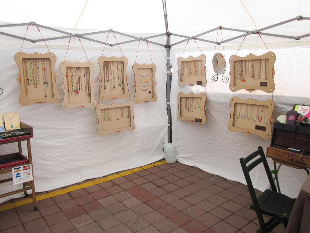 Jewelry display solution truejune for Used craft fair tents